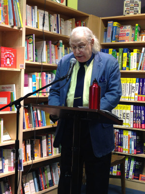Paul reading an excerpt from his book, at Porter Sq. Books in Cambridge, MA. Photo © 2015 Anne S. Katzeff