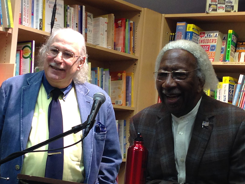 Paul and Marvin talking with the audience at Porter Sq. Books, Cambridge, MA. Photo © 2015 Anne S. Katzeff